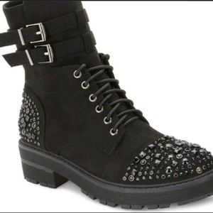 Olivia Miller Women's Studded Boot Black sz11